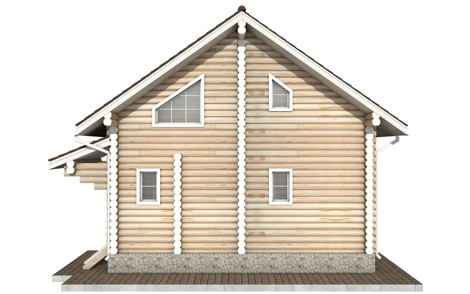 Фото #8: Красивый деревянный дом РС-47 из бревна