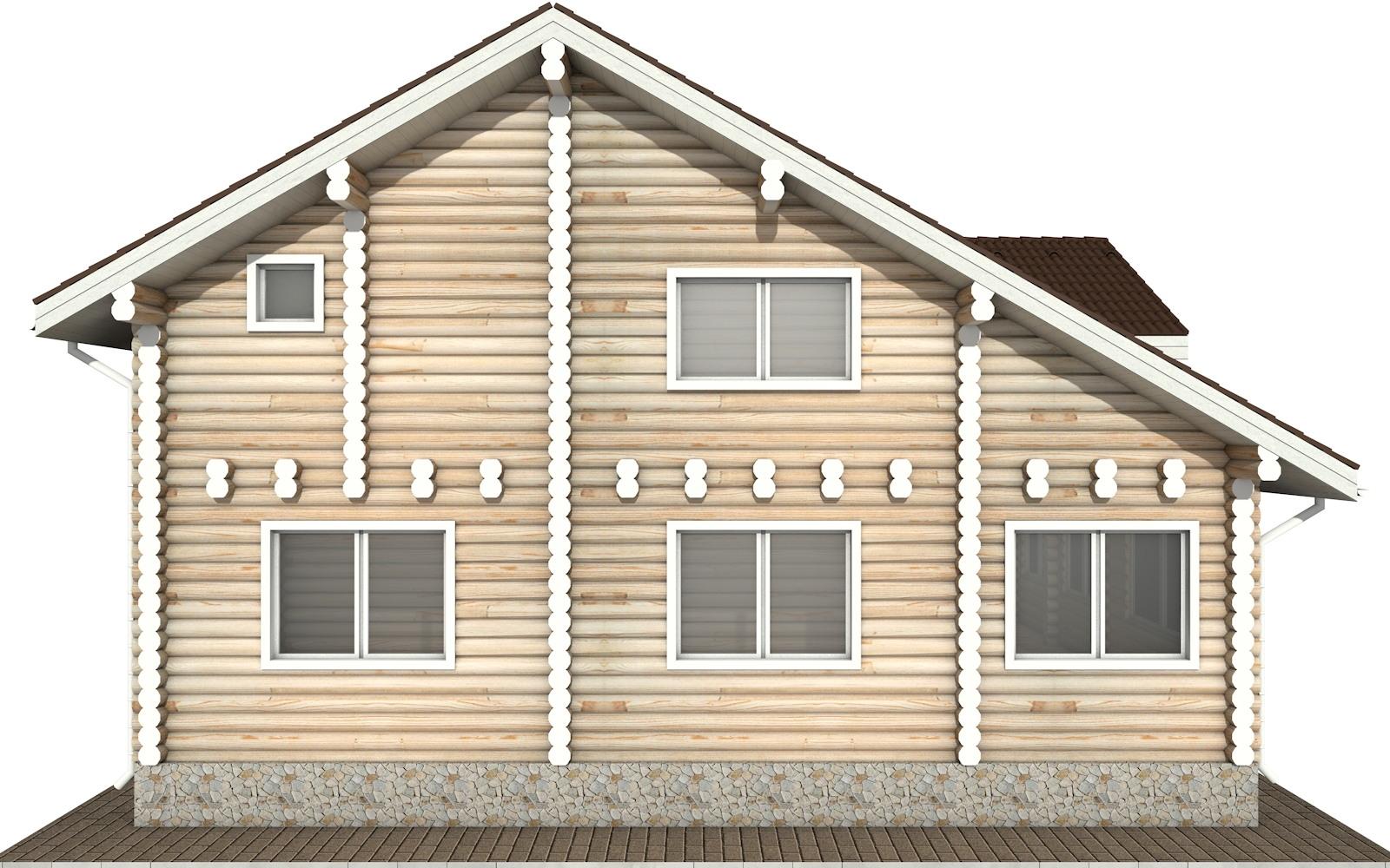 Фото #8: Красивый деревянный дом РС-48 из бревна