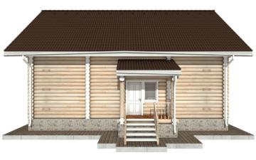 Фото #9: Красивый деревянный дом РС-50 из бревна