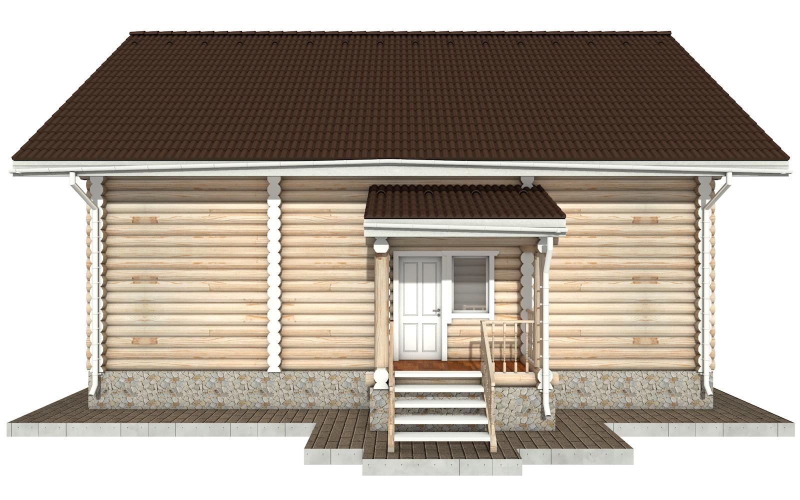 Фото #8: Красивый деревянный дом РС-50 из бревна