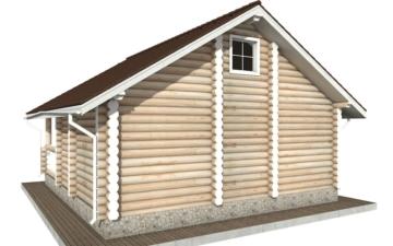 Фото #3: Красивый деревянный дом РС-51 из бревна