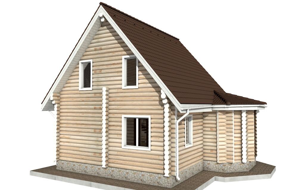 Фото #5: Красивый деревянный дом РС-52 из бревна