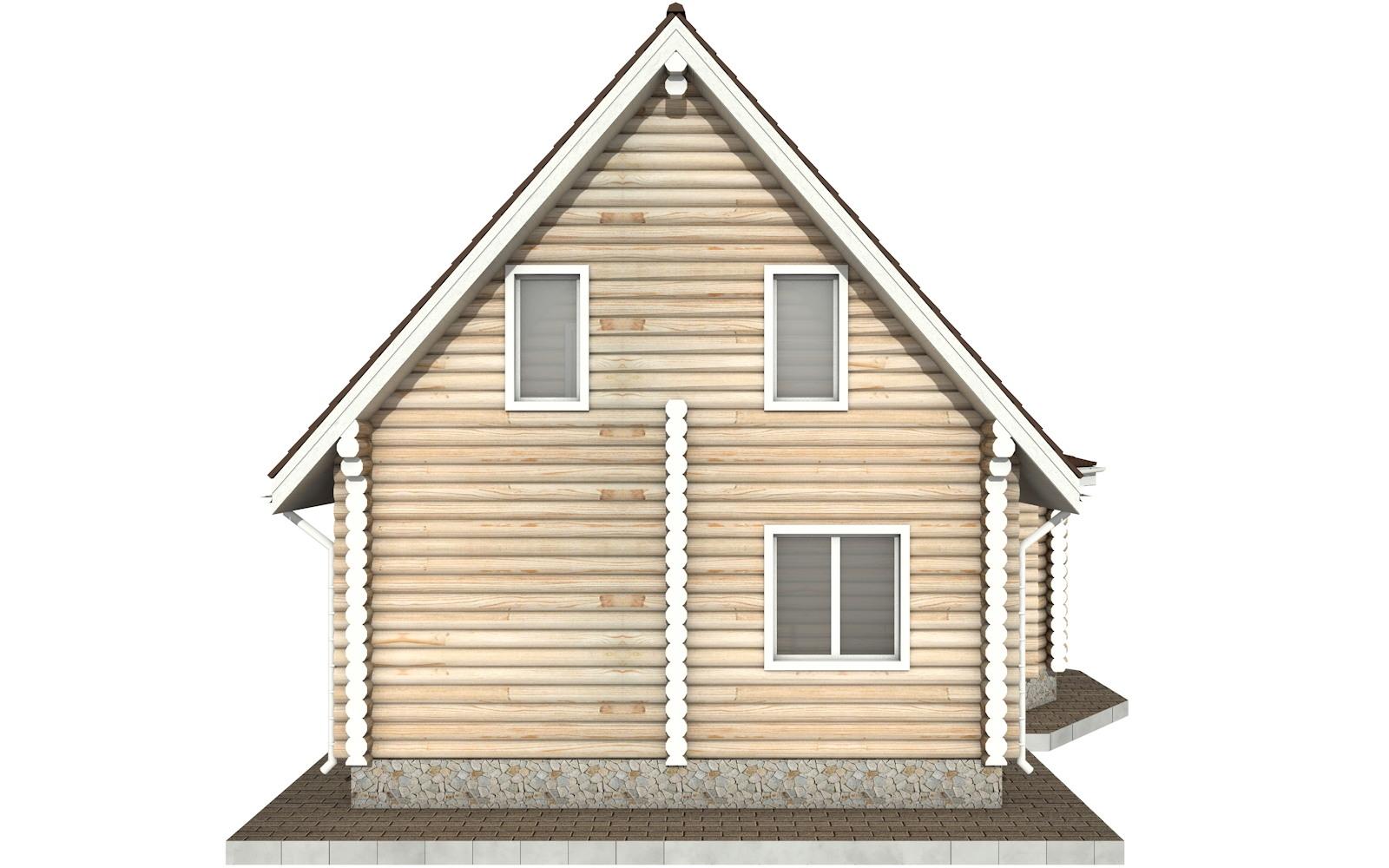 Фото #8: Красивый деревянный дом РС-52 из бревна