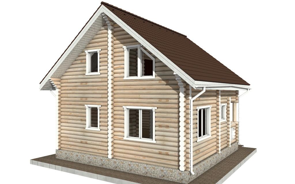 Фото #3: Красивый деревянный дом РС-54 из бревна