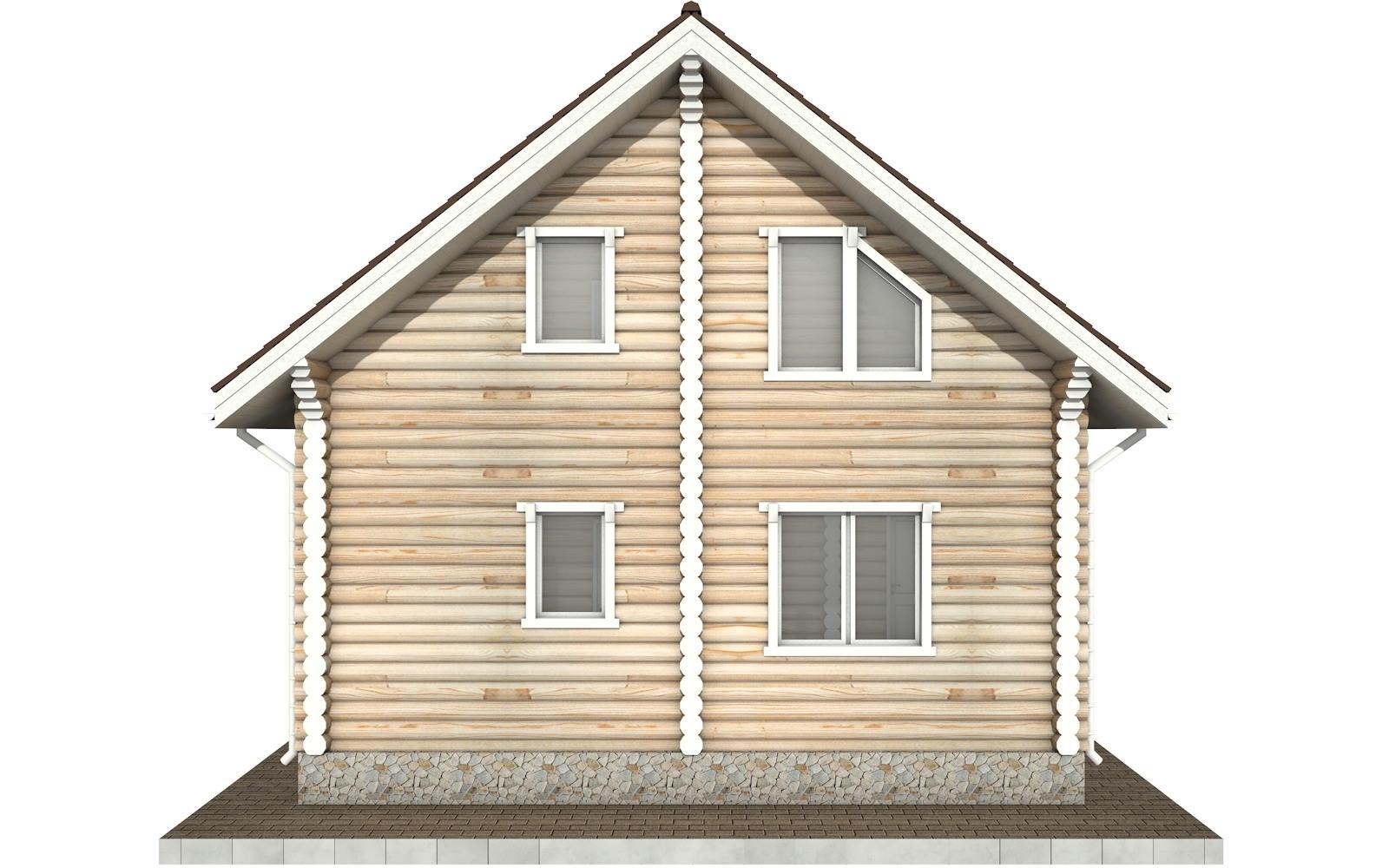 Фото #8: Красивый деревянный дом РС-54 из бревна