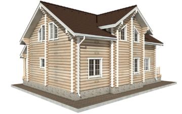 Фото #3: Красивый деревянный дом РС-55 из бревна