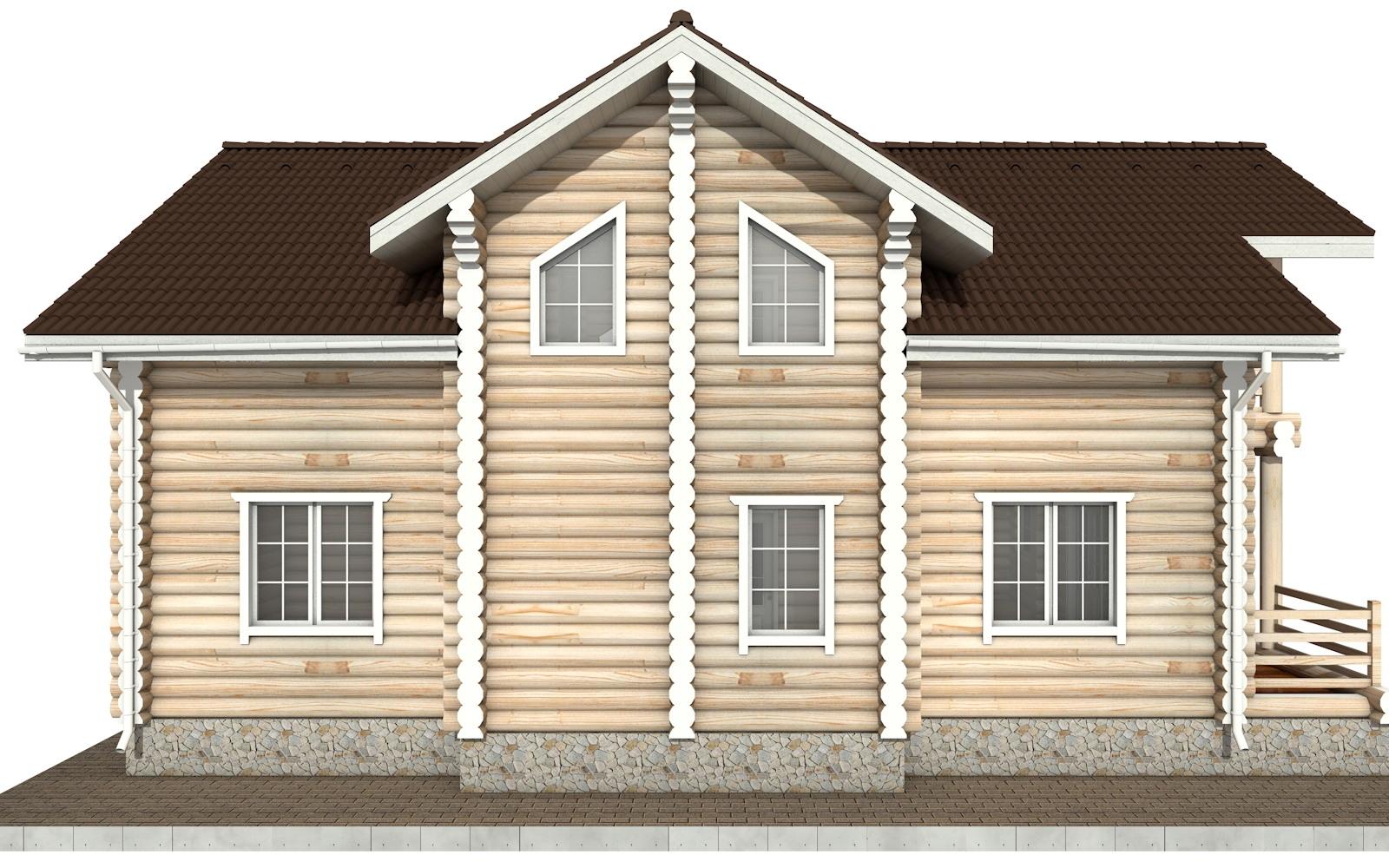 Фото #8: Красивый деревянный дом РС-55 из бревна