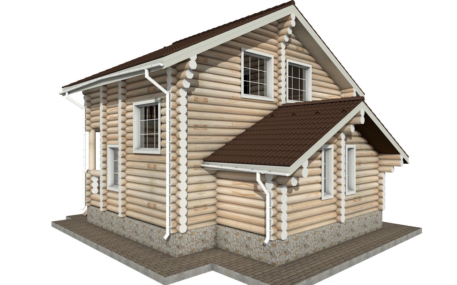 Фото #5: Красивый деревянный дом РС-1 из бревна