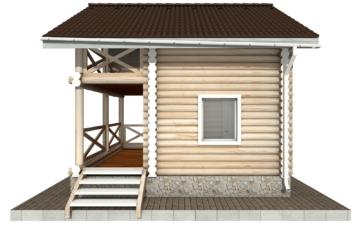 Фото #10: Красивый деревянный дом РС-100 из бревна