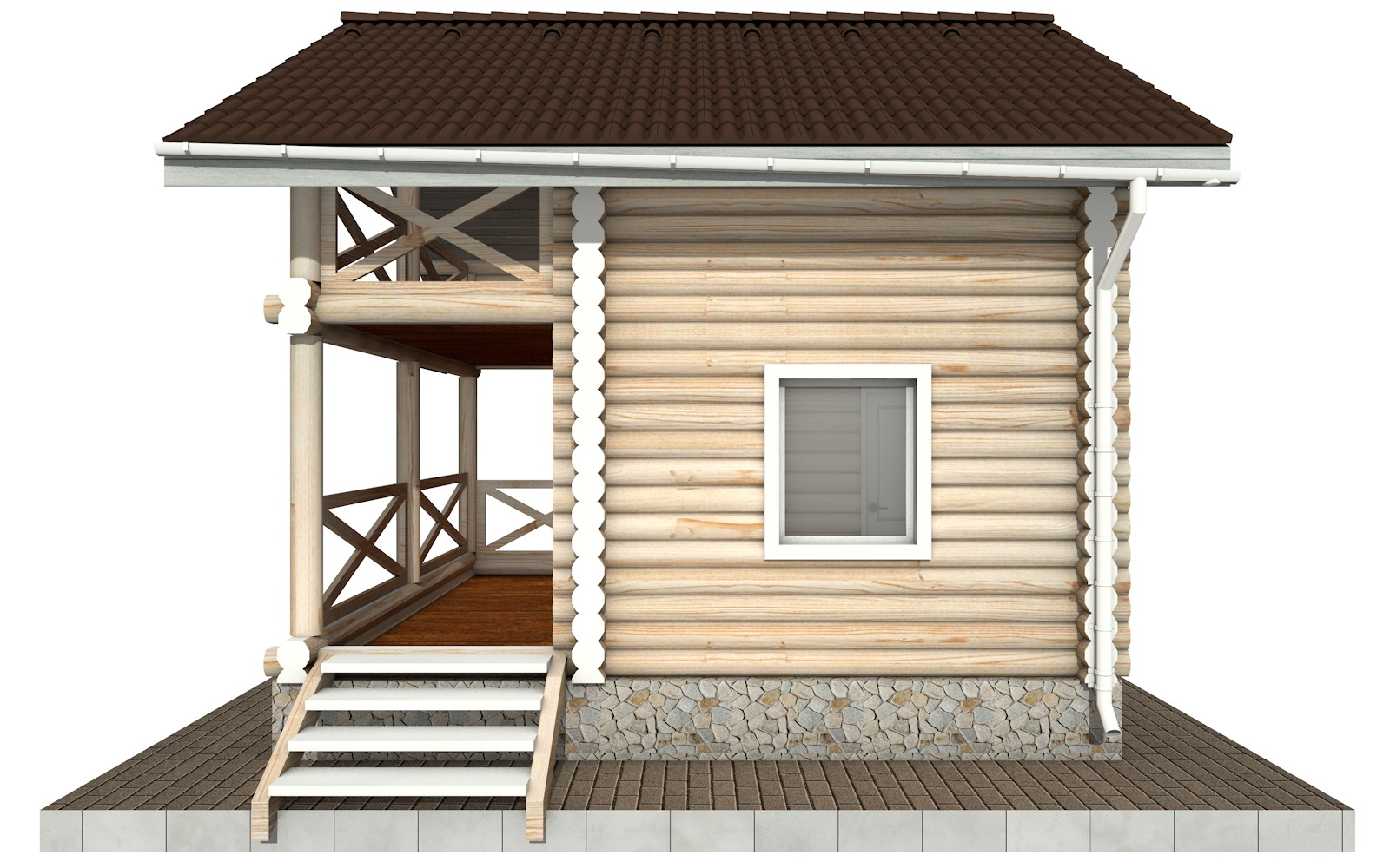 Фото #9: Красивый деревянный дом РС-100 из бревна