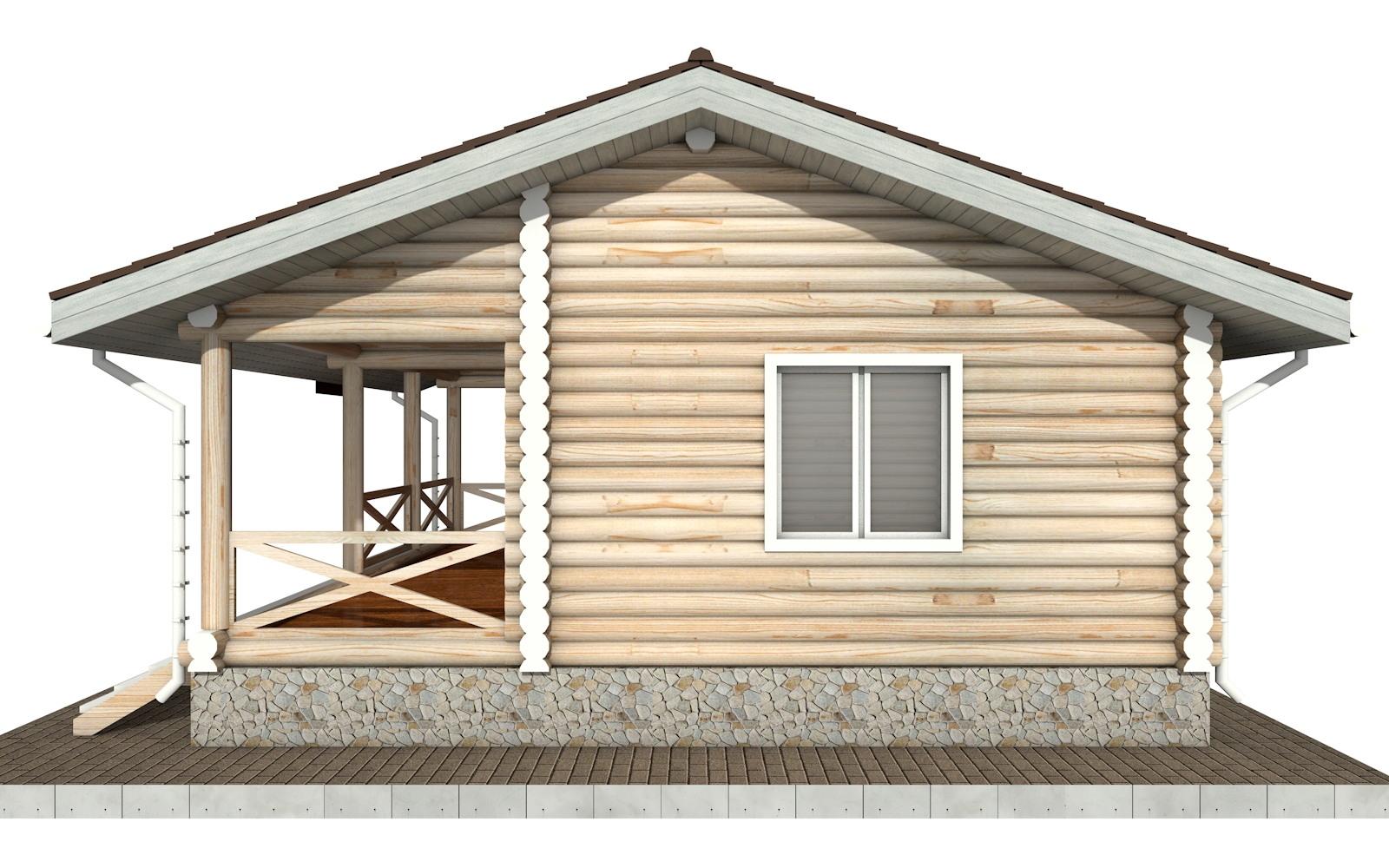 Фото #8: Красивый деревянный дом РС-101 из бревна