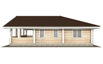 Фото #10: Красивый деревянный дом РС-103 из бревна