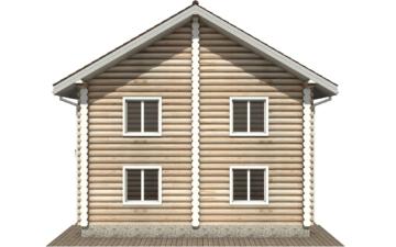 Фото #10: Красивый деревянный дом РС-104 из бревна