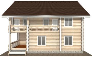 Фото #10: Красивый деревянный дом РС-105 из бревна