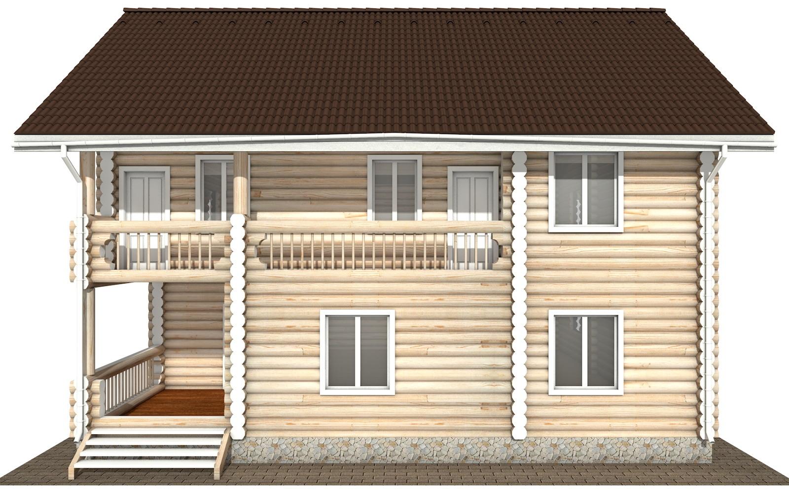 Фото #9: Красивый деревянный дом РС-105 из бревна