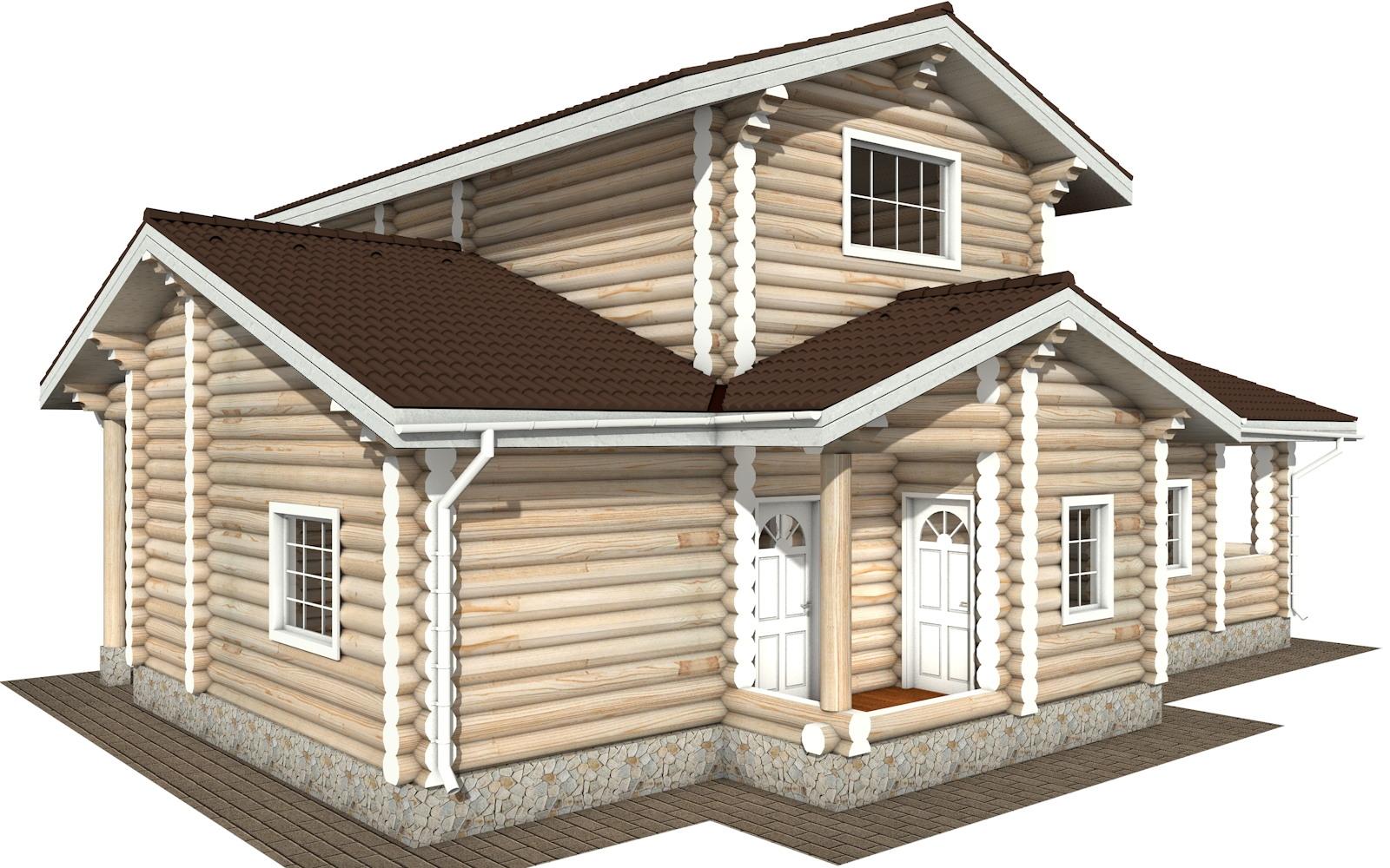 Фото #5: Красивый деревянный дом РС-106 из бревна