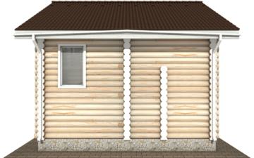 Фото #10: Красивый деревянный дом РС-107 из бревна