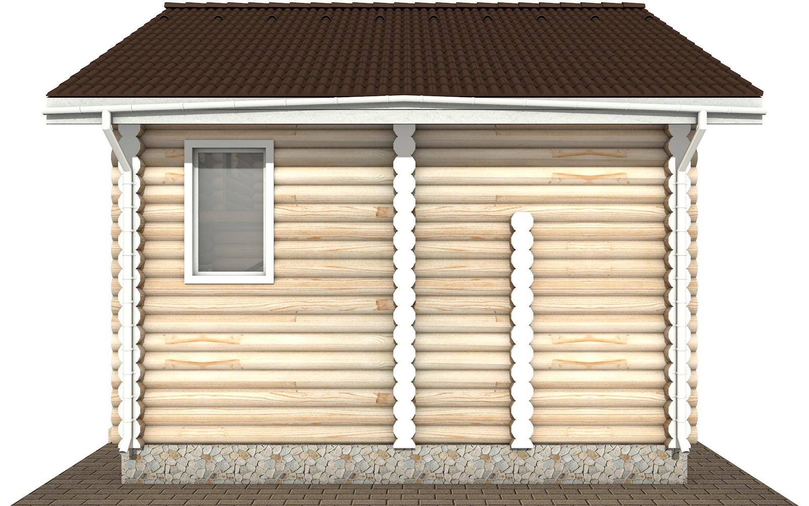 Фото #9: Красивый деревянный дом РС-107 из бревна