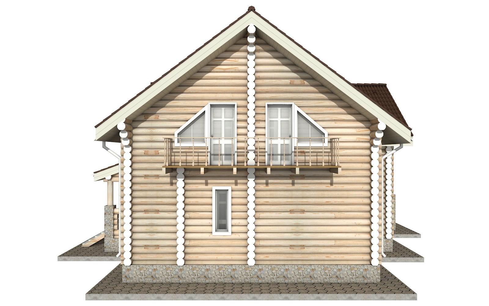 Фото #9: Красивый деревянный дом РС-11 из бревна
