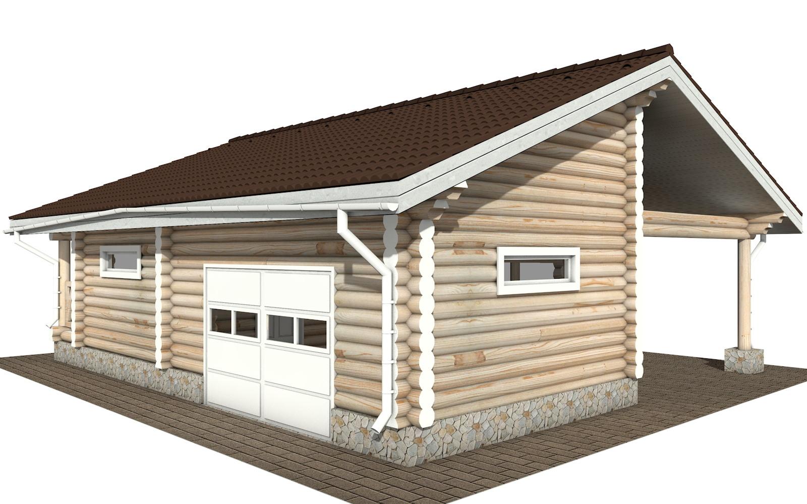 Фото #4: Красивый деревянный дом РС-108 из бревна