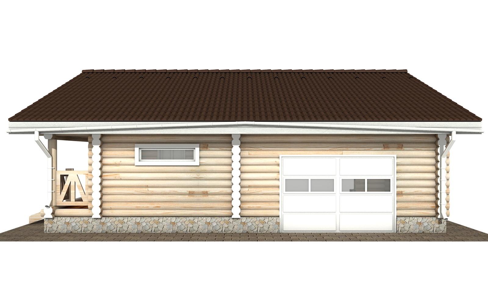 Фото #8: Красивый деревянный дом РС-108 из бревна