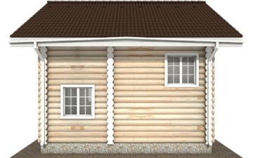 Фото #10: Красивый деревянный дом РС-109 из бревна