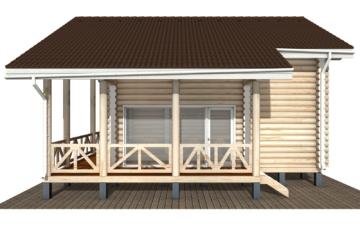 Фото #10: Красивый деревянный дом РС-110 из бревна