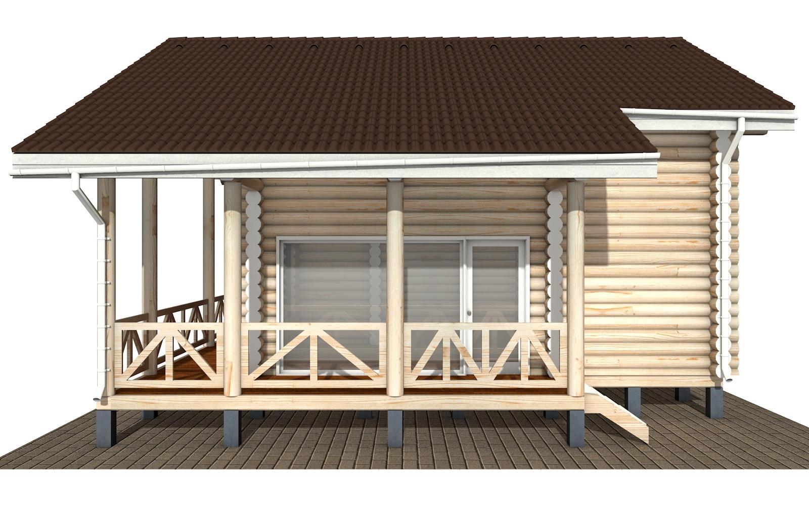 Фото #9: Красивый деревянный дом РС-110 из бревна