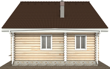 Фото #10: Красивый деревянный дом РС-111 из бревна
