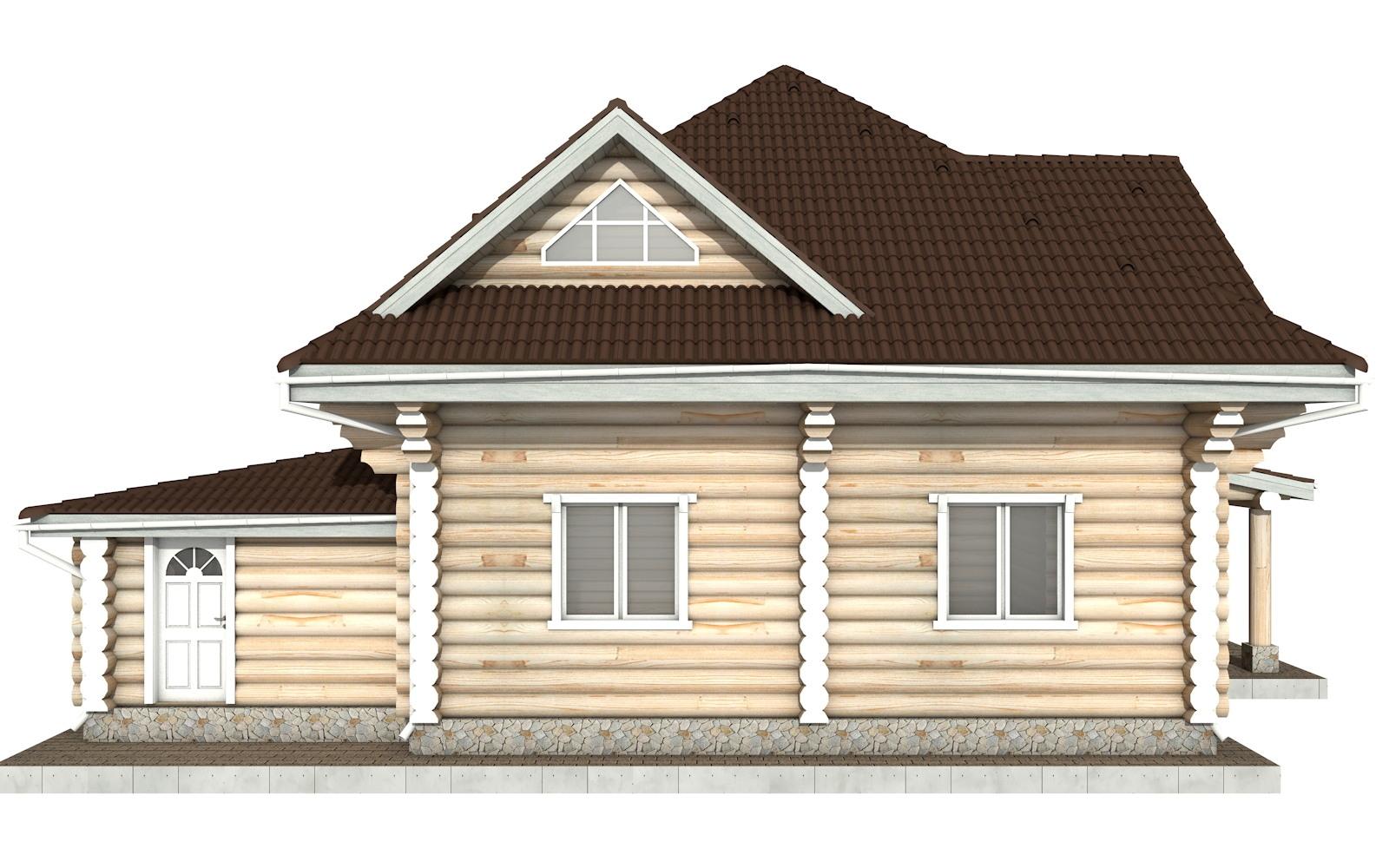 Фото #9: Красивый деревянный дом РС-112 из бревна