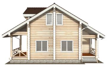 Фото #10: Красивый деревянный дом РС-113 из бревна