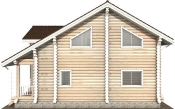 Фото #10: Красивый деревянный дом РС-114 из бревна