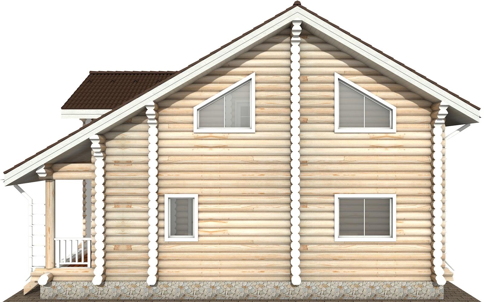 Фото #9: Красивый деревянный дом РС-114 из бревна