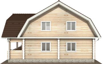 Фото #10: Красивый деревянный дом РС-115 из бревна