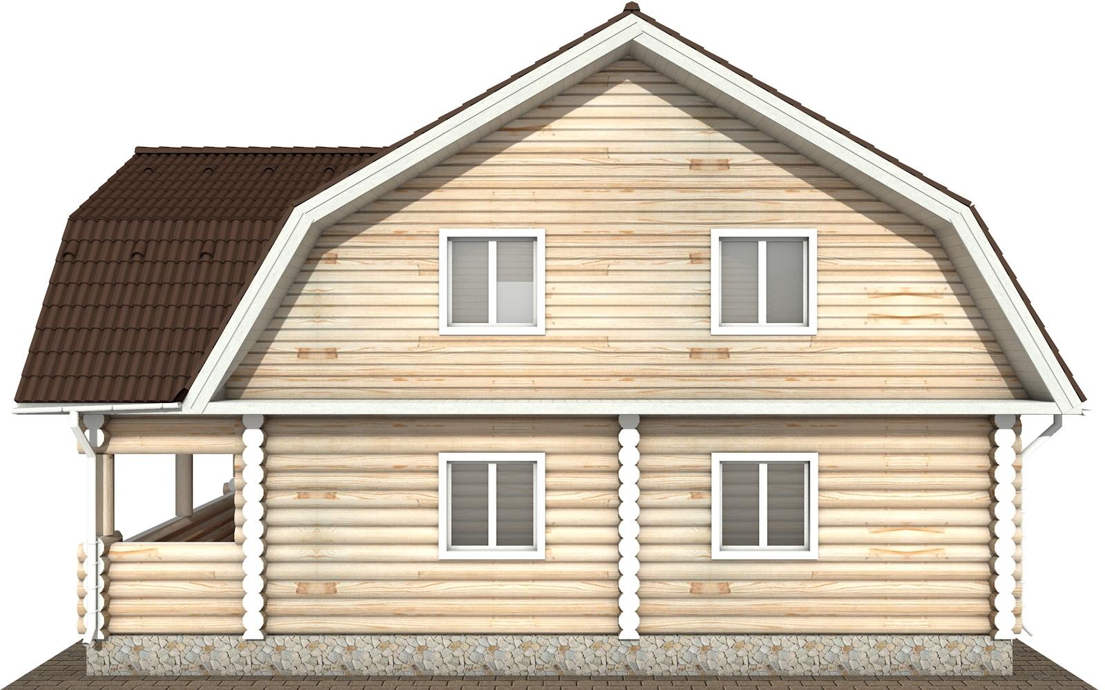 Фото #9: Красивый деревянный дом РС-115 из бревна