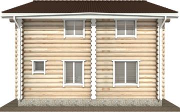 Фото #10: Красивый деревянный дом РС-116 из бревна