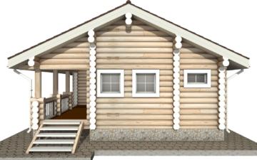 Фото #10: Красивый деревянный дом РС-12 из бревна