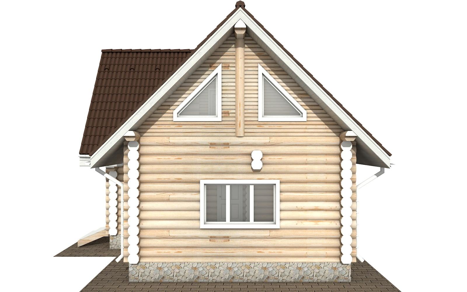 Фото #9: Красивый деревянный дом РС-117 из бревна