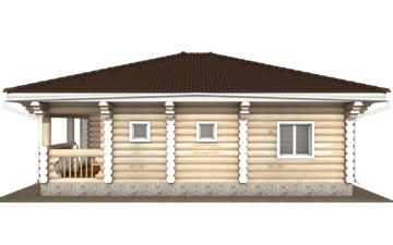 Фото #10: Красивый деревянный дом РС-118 из бревна