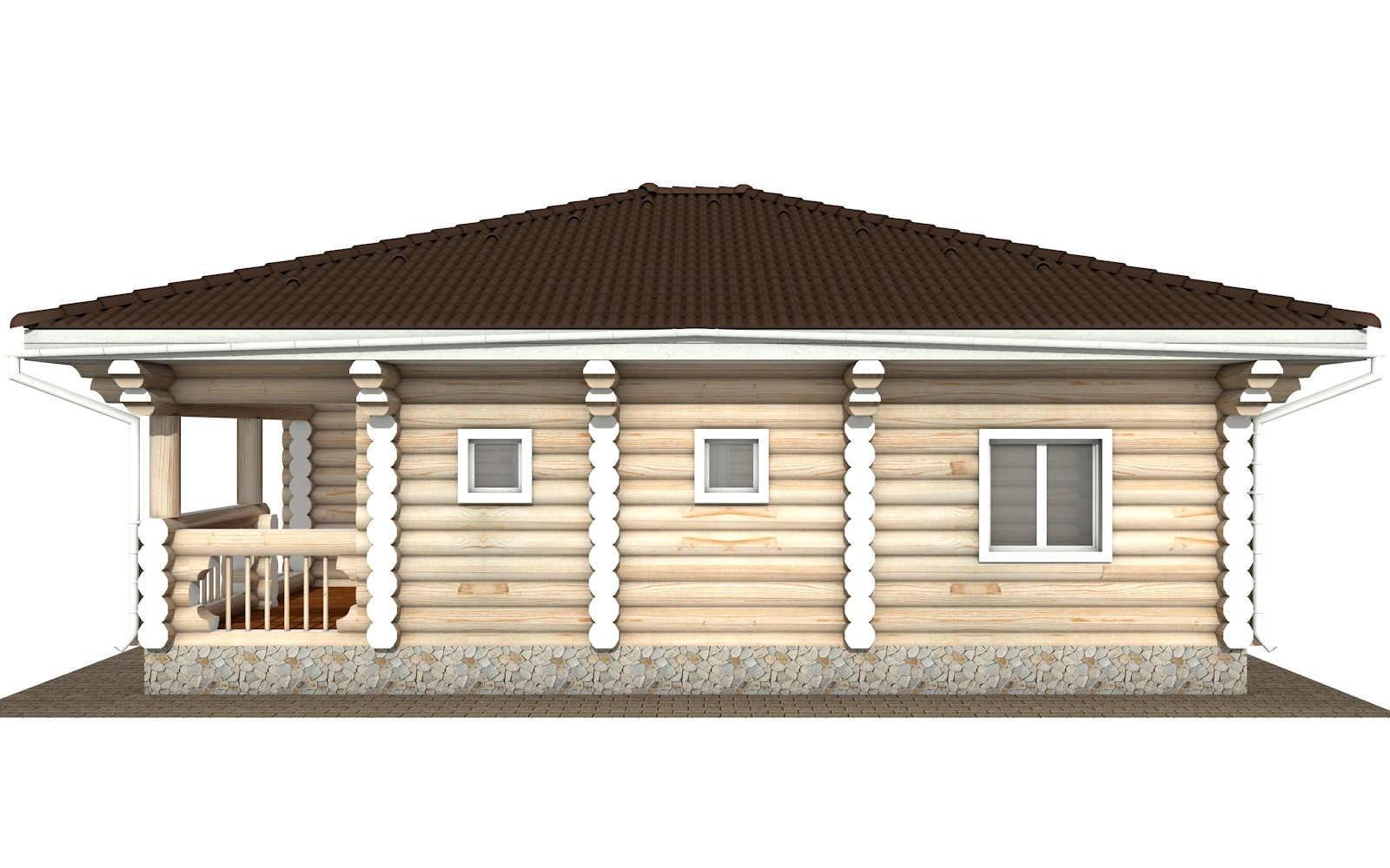 Фото #8: Красивый деревянный дом РС-118 из бревна