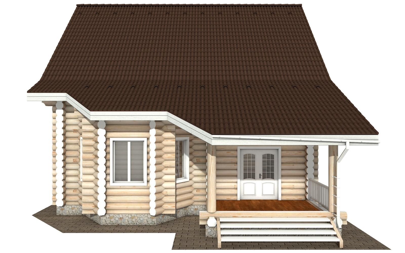 Фото #9: Красивый деревянный дом РС-119 из бревна