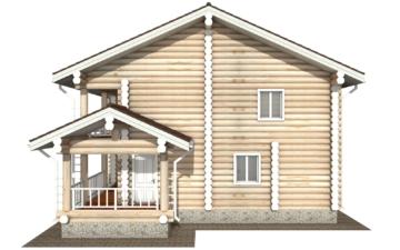 Фото #10: Красивый деревянный дом РС-120 из бревна