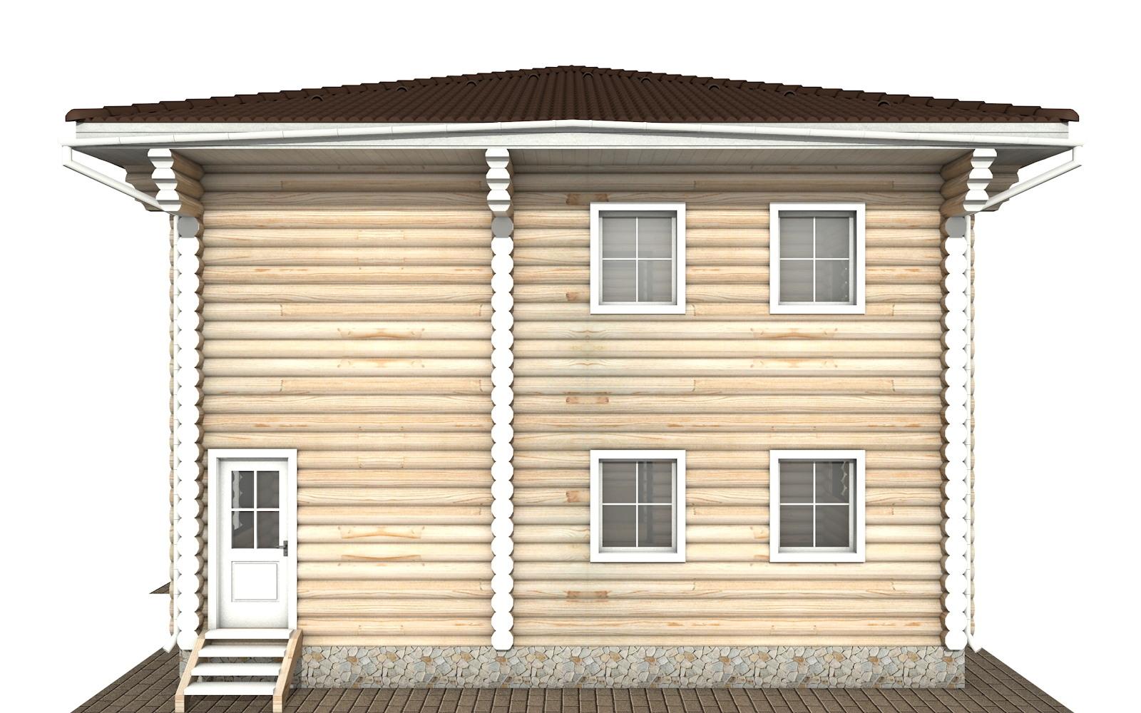 Фото #9: Красивый деревянный дом РС-122 из бревна