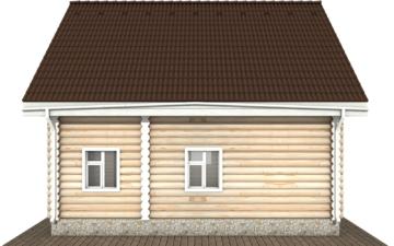 Фото #10: Красивый деревянный дом РС-123 из бревна