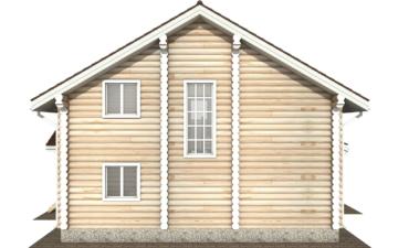 Фото #10: Красивый деревянный дом РС-124 из бревна