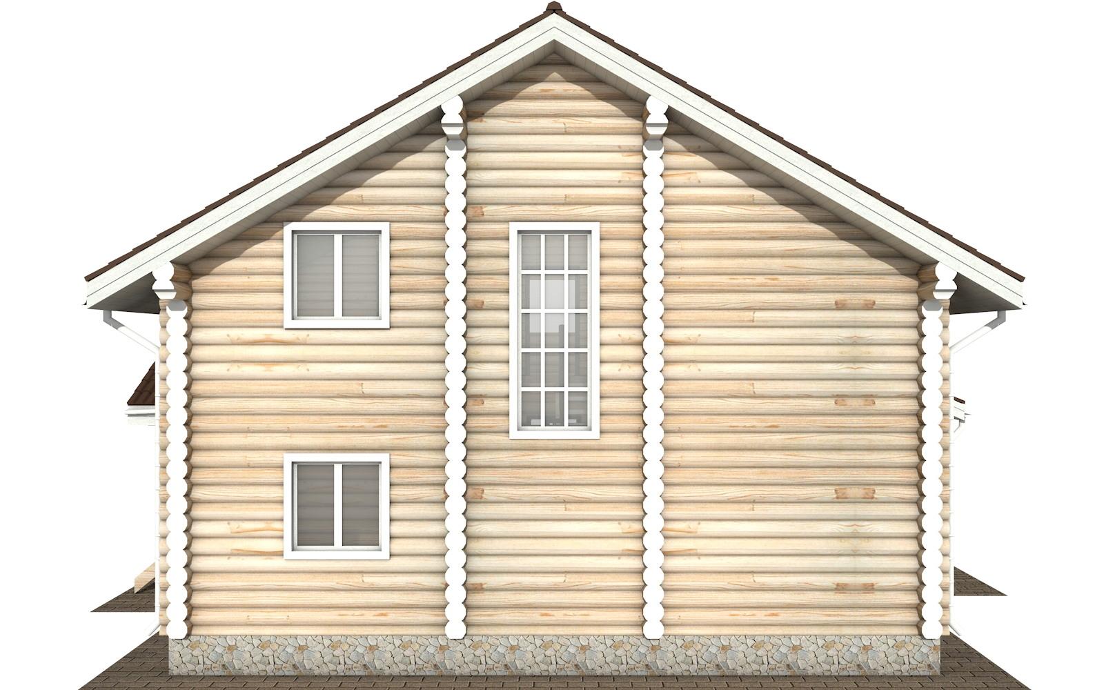 Фото #9: Красивый деревянный дом РС-124 из бревна