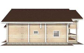 Фото #10: Красивый деревянный дом РС-125 из бревна
