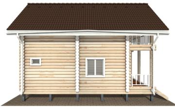 Фото #10: Красивый деревянный дом РС-126 из бревна