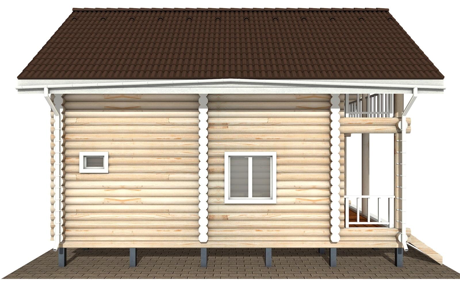Фото #9: Красивый деревянный дом РС-126 из бревна