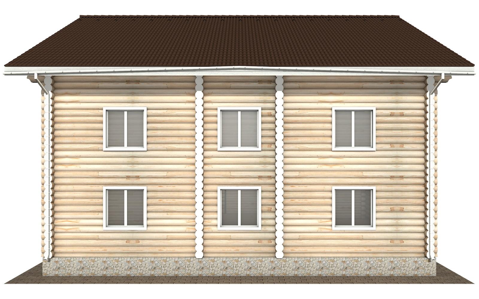 Фото #10: Красивый деревянный дом РС-127 из бревна